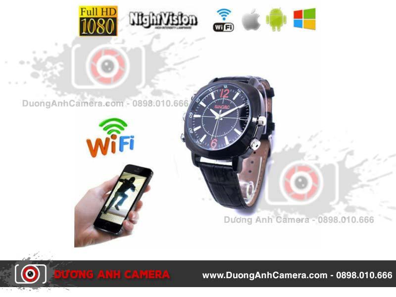 Camera ngụy trang Đồng hồ đeo tay Spy Watch 1080P - Wifi