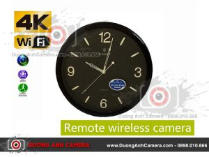 Camera ngụy trang Đồng hồ treo tường KASHI màu đen