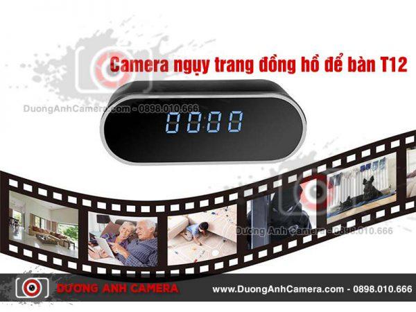 Camera ngụy trang Đồng hồ để bàn T12