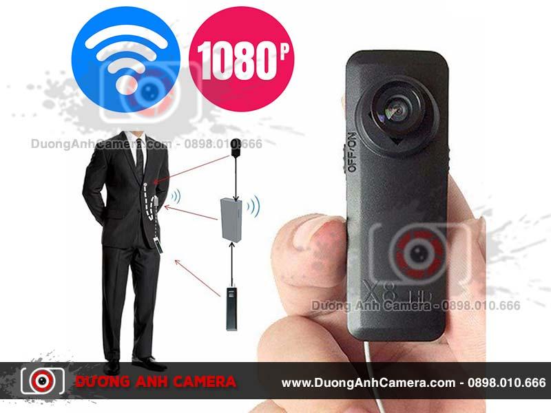 Camera ngụy trang Cúc áo X8 - Quay video Full HD