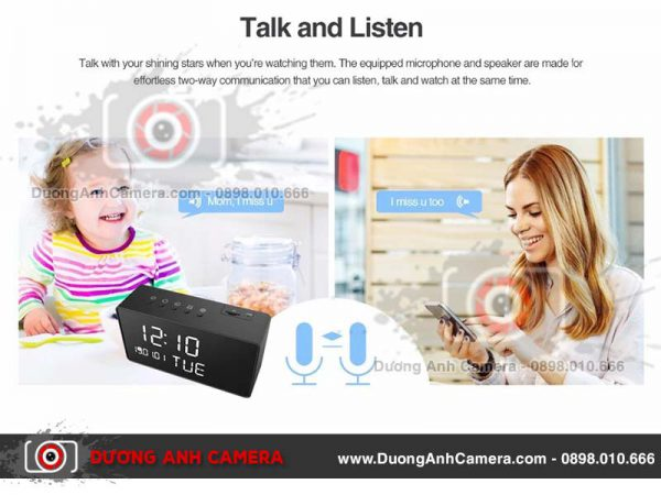 Camera 4K ngụy trang Đồng hồ để bàn NZ01