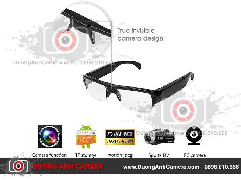 Camera ngụy trang Kính mắt SM27 - Full HD - 128GB