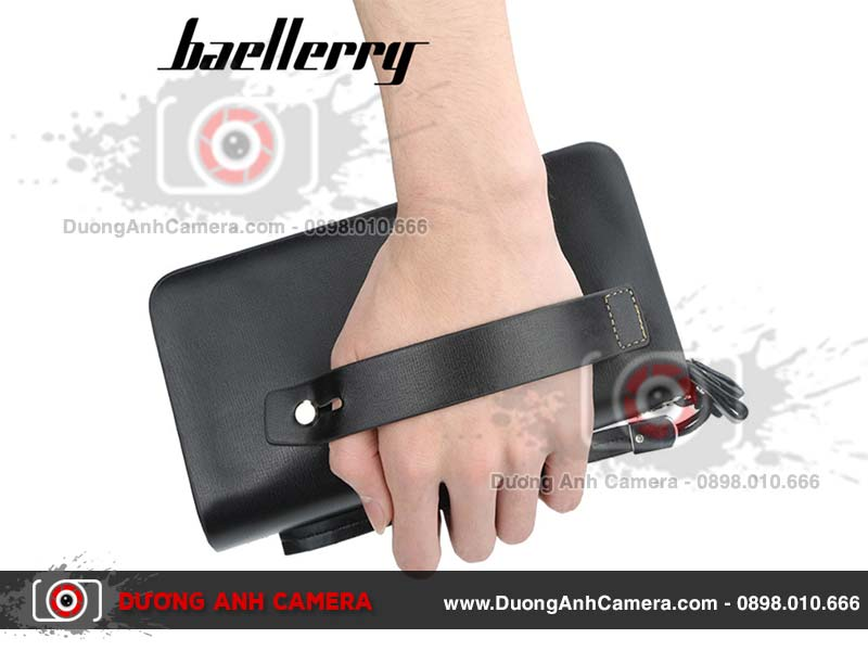 Camera ngụy trang Ví da Baellerry Leather 4K - Wifi