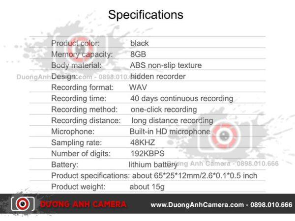 Máy ghi âm kỹ thuật số siêu nhỏ Q70